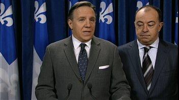 François Legault et le porte-parole de la CAQ en matière de finances, Christian Dubé, ont critiqué le budget Marceau.