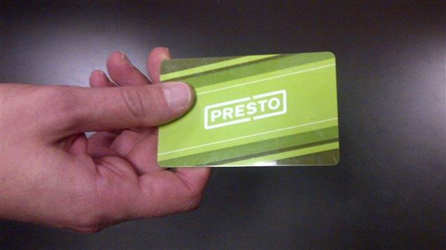 Un déploiement partiel de 10 000 cartes Presto commence vendredi à Ottawa (archives).