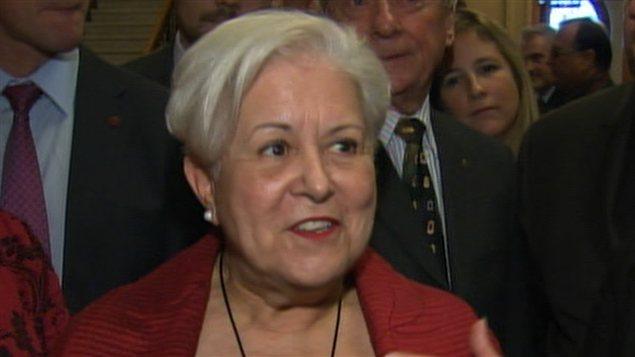 La chef de Vision Montréal Louise Harel