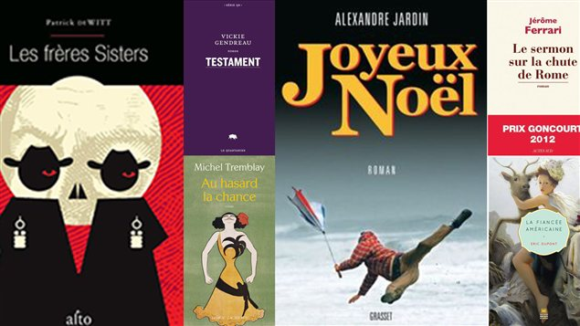 Quelques-unes des couvertures de romans discutés en ondes