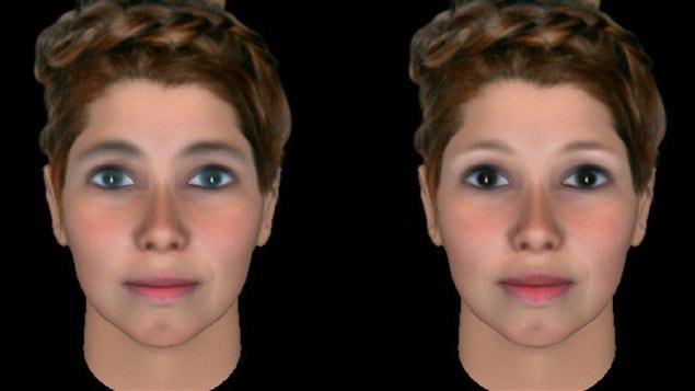 Photos de visages féminins utilisées dans l'étude