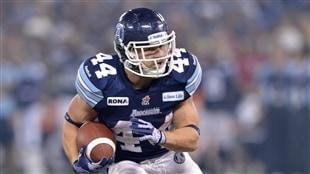 Chad Kackert des Argonauts de Toronto a été élu joueur par excellence du match de la Coupe Grey.