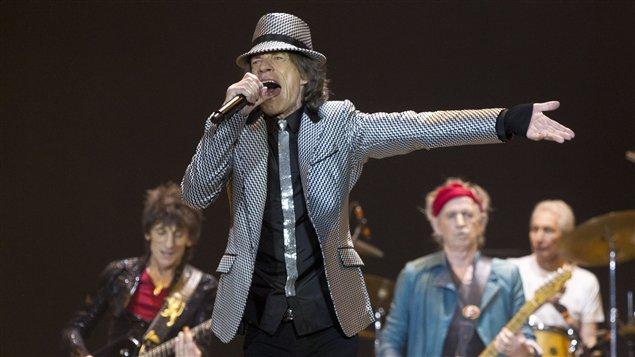 Les Rolling Stones, lors du premier de leur série de concerts visant à célébrer le 50e anniversaire du groupe