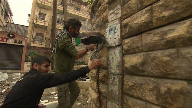 Image tirée du reportage de Luc Chartrand et Marie-Eve Bédard en Syrie. Diffusé au Téléjournal 22h, lundi 26-11-12.