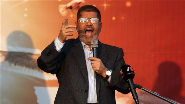 Le prsident gyptien, Mohamed Morsi