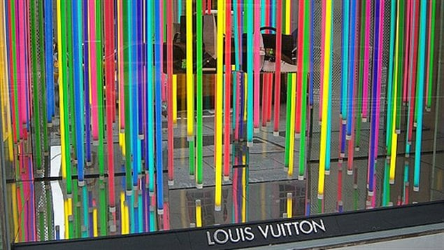 La vitrine néon de Louis Vuitton à New York