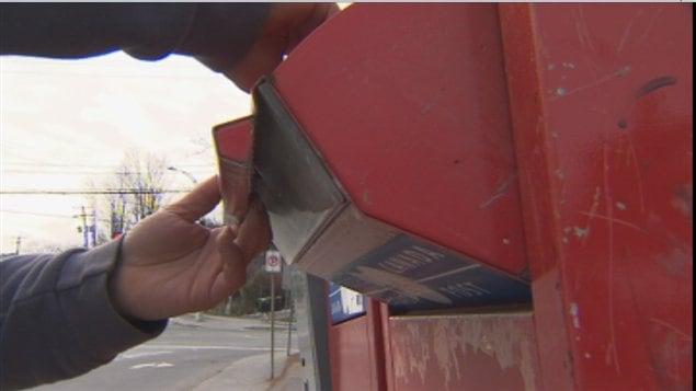 Postes Canada retire de nombreuses boîtes postales dans la région