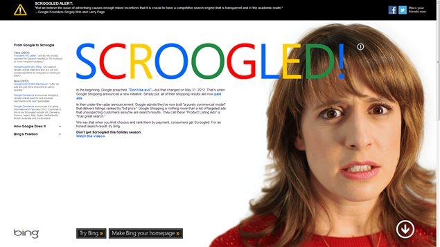 Microsoft met en garde les consommateurs qui choisiraient de faire leurs emplettes des Fêtes sur Google, à l'occasion de sa plus récente offensive pour attirer les internautes vers son moteur de recherche Bing.
