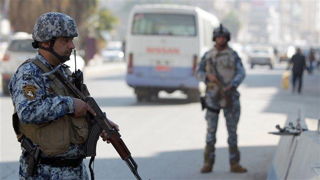 Des policiers irakiens sont sur le qui-vive dans la capitale. (archives)
