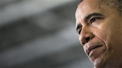 Le président Barack Obama, dans une usine de Hatfield,  explique sa stratégie pour éviter le mur fiscal.