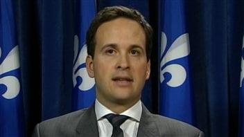 Le ministre délégué aux Affaires intergouvernementales, Alexandre Cloutier.