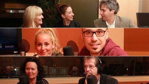 Les invités d'Annie Desrochers pour cette conclusion de la série © Radio-Canada / Marie-Sandrine Auger