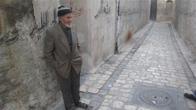 Un habitant d'Alep