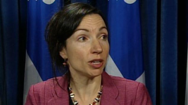 La ministre des Ressources naturelles du Québec, Martine Ouellet