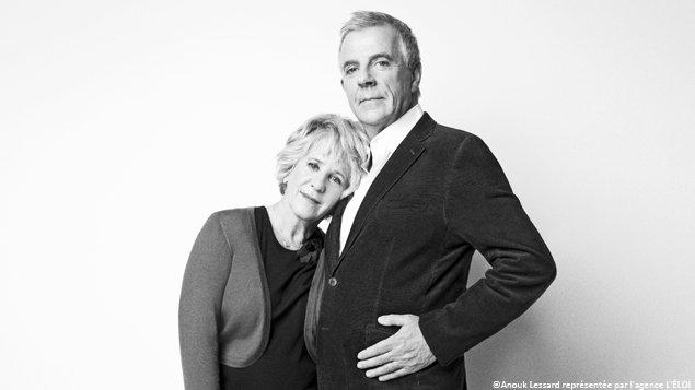Denise Bombardier et James Jackson  �Photo prise par Anouk Lessard, repr�sent�e par l'agence L'�LOI pour l'�dition Anglos d'Urbania en kiosque le 14 d�cembre 2012