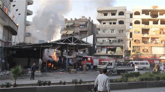 Bombardements de l'armée syrienne autour de Damas (archives)