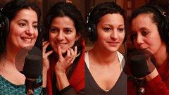Jamila Drissi, Hoonaz Ghojallu , Morgiane El Boubsiet Hassiba Halabi  ©Radio-Canada/Marie-Sandrine Auger