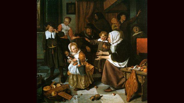 <em>La fête de Saint-Nicolas</em>, de Jan Steen, vers 1665 | Musée Rijksmuseum d'Amsterdam