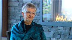 L'Albertaine Huguette Hébert, en entrevue à Radio-Canada, en décembre 2012.