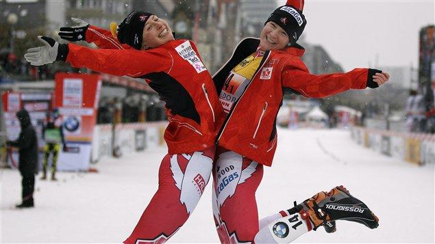 Chandra Crawford (gauche) et Daria Gaïazova