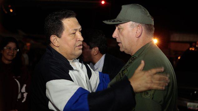 Hugo Chavez lors de son retour au Venezuela après de nouveaux traitements à Cuba