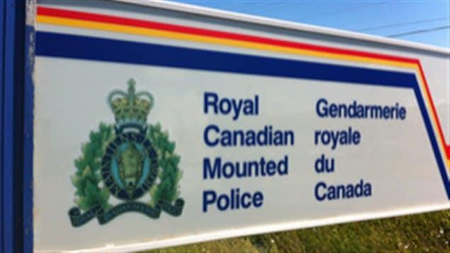 Un panneau de la Gendarmerie royale du Canada
