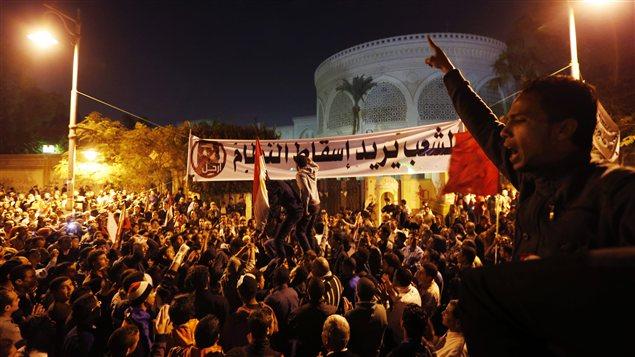 Manifestation au Caire, le 9 décembre.