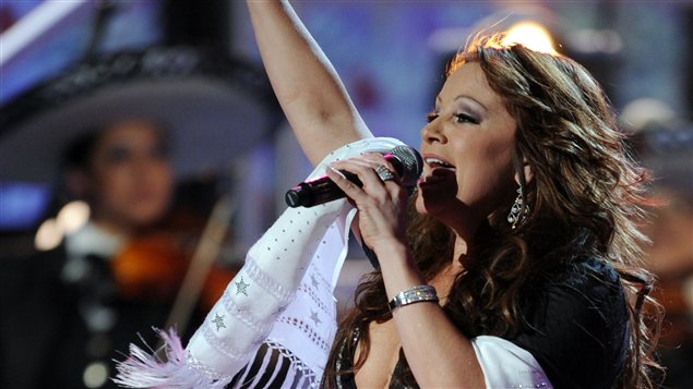 La chanteuse mexicano-américaine Jenni Rivera à Houston, au Texas, en novembre 2008.