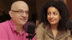 Alain Vadeboncoeur et Dominique Anglade  ©Radio-Canada/Marie-Sandrine Auger