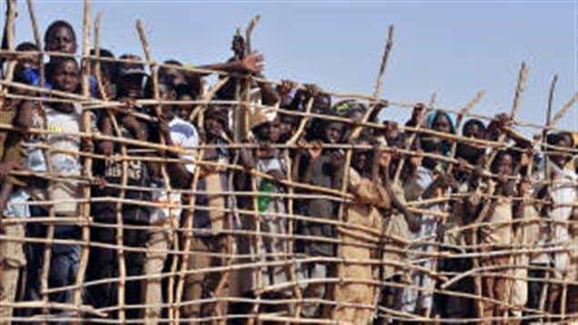 Des réfugiés soudanais au Tchad