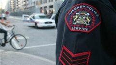 Un écusson de la police de Calgary