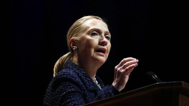 La secrétaire d'État Hillary Clinton lors de son récent passage à Dublin.