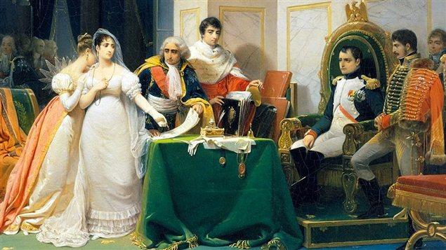 Le divorce de l'impératrice Joséphine | peinture de Frédéric-Henri Schopin (détail)
