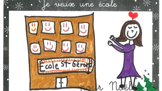 Une des cartes transmises à la ministre de l'Éducation, Marie Malavoy
