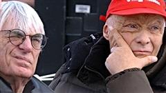 Bernie Ecclestone et Niki Lauda