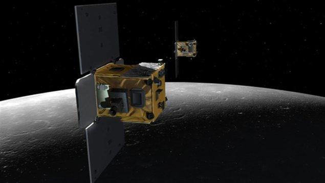 Les sondes Ebb et Flow en mission autour de la Lune.