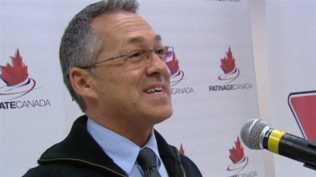 Benoît Lavoie, président de Patinage Canada, a fait l'annonce mardi.