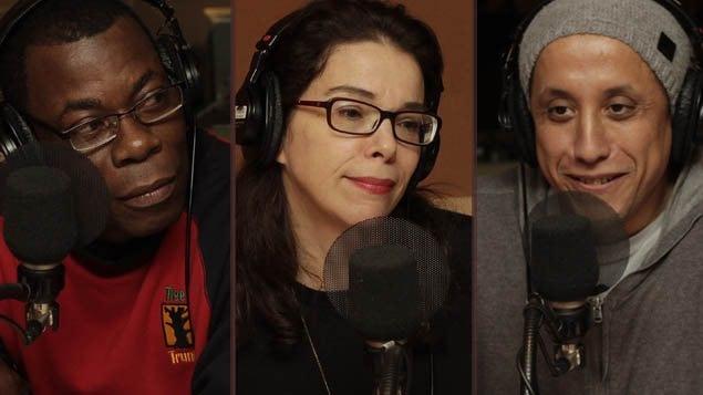 <b>Fulgence Bla, Gilda Salomone et Hassan Serraji</b> | ©Radio-Canada/Xavier Kronström Richard