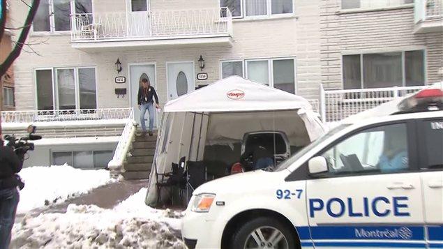 Une série de perquisitions ont eu lieu dans l'arrondissement de Saint-Léonard, à Montréal, et à Laval, en lien avec la mafia montréalaise.
