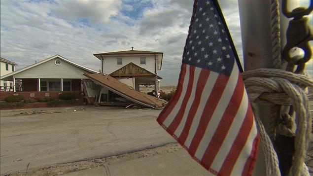 Des dégâts causés par le passage de Sandy aux États-Unis