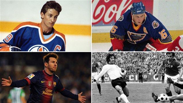 Wayne Gretzky, Brett Hull, Lionel Messi, Gerd Mueller