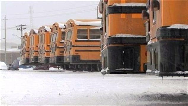 Des autobus scolaires