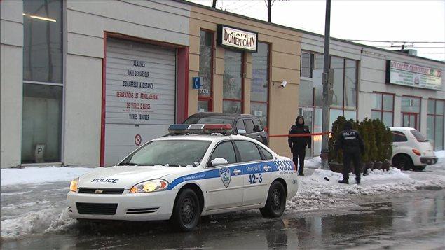 Lieu de l'homicide à Saint-Léonard, rue Provencher