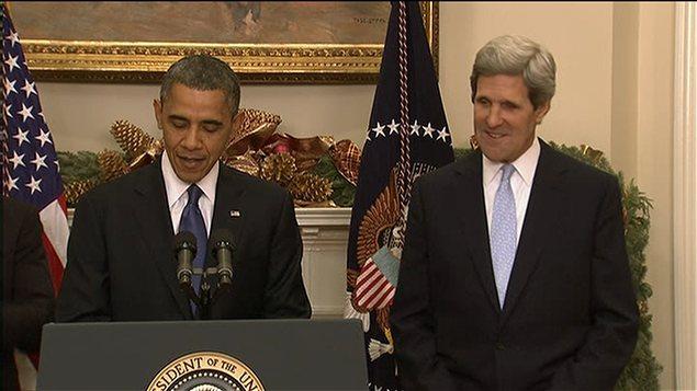 Le président Obama et John Kerry