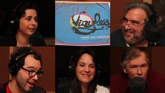 De gauche � droite et de haut en bas : Helen Faradji, Georges Privet, Fr�d�ric Lambert, Genevi�ve Gu�rard et Jean Aubry | �Radio-Canada/C�cile Gladel