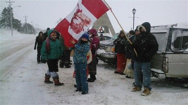 Une trentaine de manifestants à Mashteuiatsh