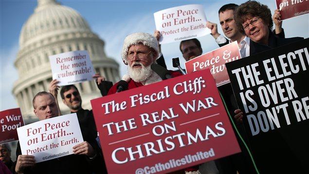 Manifestation devant le Capitole de Washington, pour éviter le précipice fiscal, le 12 décembre 2012
