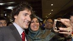 Justin Trudeau lors de sa participation à la conférence sur le Renouveau islamique, à Toronto