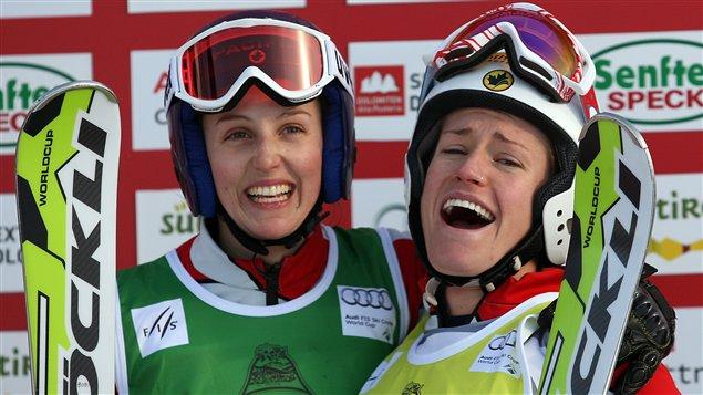 Kelsey Serwa et Georgia Simmerling