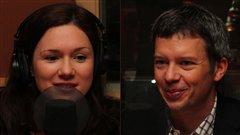 Léa Stréliski-Richard et Louis Aucoin. Radio-Canada/Cécile Gladel